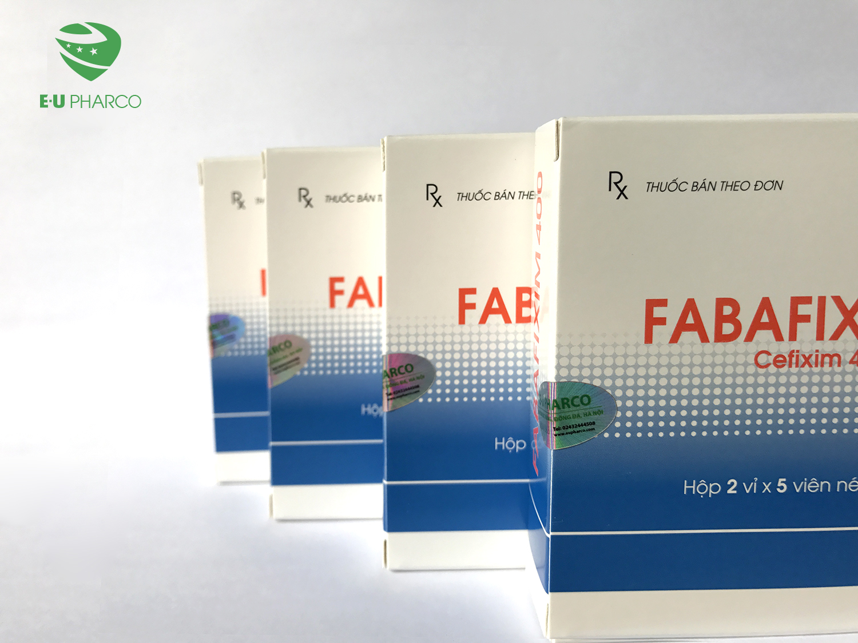 Tem dán trên sản phẩm Fabafixim 400